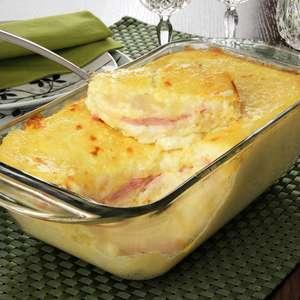 Torta de batata com presunto e queijo prática e deliciosa