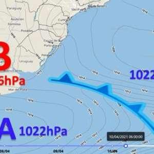 Ciclone extratropical influencia o Sul