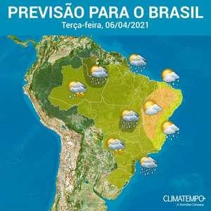 Condições para chuva em quase todo o Brasil