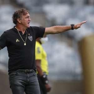 Cuca vê conjunto do Galo melhor, mas prega cautela para o clássico contra o Cruzeiro: 'vamos fazer o nosso melhor no domingo'