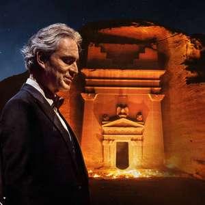 Bocelli faz show em patrimônio da Unesco na Arábia Saudita
