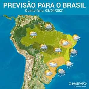 Mais pancadas de chuva por quase todo o Brasil