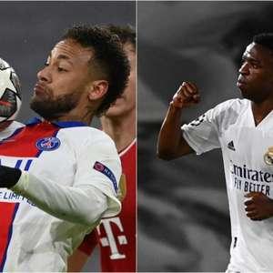 Neymar e Vini Jr. aparecem na seleção da semana da Champions
