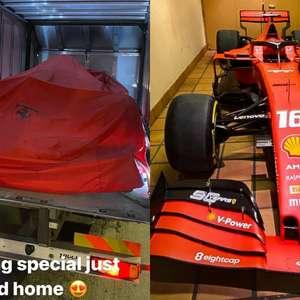 Ferrari presenteia Leclerc com carro de primeiras ...