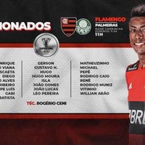 Com duas baixas, Flamengo finaliza último treino no Rio antes de ir para Brasília; veja os relacionados