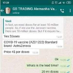 Mercado paralelo tem oferta de vacinas até pelo WhatsApp