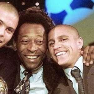 Pelé homenageia Roberto Carlos e brinca com Ronaldo no ...