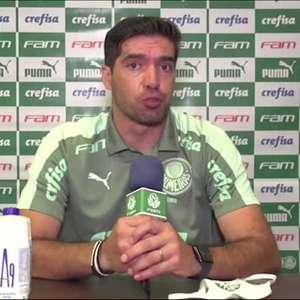 PALMEIRAS: Abel Ferreira ressalta que time criou mais oportunidades que o Flamengo e destaca orgulho dos jogadores pela atitude durante os 90 minutos