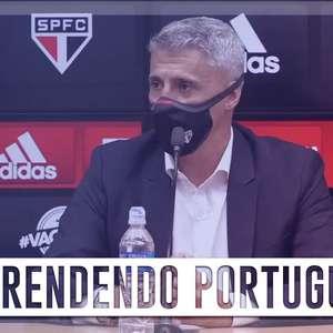 Argentino, técnico Hernán Crespo se esforça para aprender português