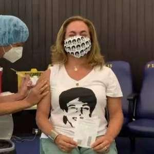 Cissa Guimarães é vacinada contra covid-19: 'Esperança e ...