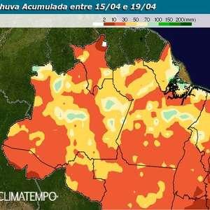 Chuva se espalha pelo Norte do Brasil