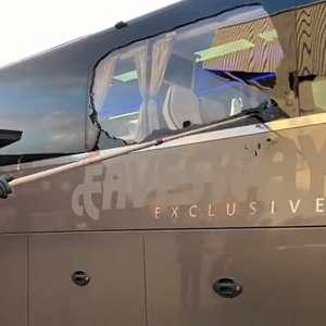 Ônibus do Real Madrid é atacado por torcedores do ...