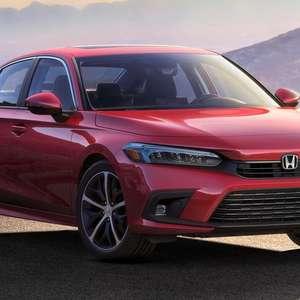 Honda revela primeira imagem oficial do novo Civic 2022