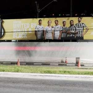 Santos coloca outdoor no CT Meninos da Vila para indicar ...