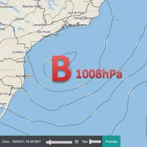 Ciclone influencia Sul e Sudeste