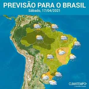 Volta a chover em quase todo o Brasil