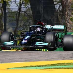Hamilton brilha em Ímola e conquista pole. Pérez larga em 2º
