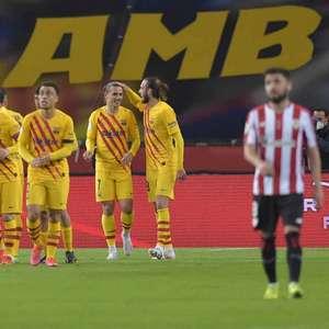 Messi marca dois, Barcelona goleia o Athletic Bilbao e é ...