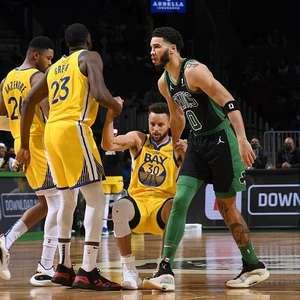 Tatum vence duelo contra Curry e Celtics bate Warriors