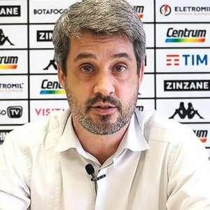 Diretor de futebol do Botafogo exalta dedicação de ...