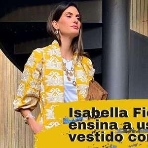 Isabella Fiorentino dá lição fashion com vestido e jeans