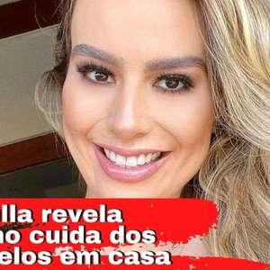 Fernanda Keulla revela cuidados caseiros para os cabelos