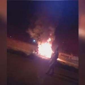 Vídeo mostra momento que veículos pegam fogo após batida na BR 277 em Cascavel