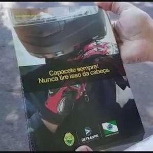 Com 56 mortes no trânsito de Cascavel, motociclistas são orientados na Erechim