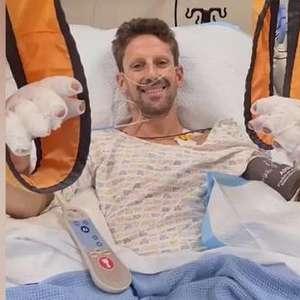 Piloto francês Romain Grosjean grava vídeo de hospital tranquilizando fãs