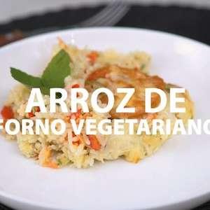 Arroz de forno vegetariano