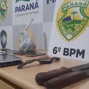 Suspeitos de furto e receptação são detidos pela PM