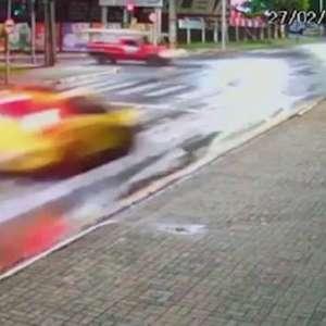 Imagem mostra acidente que matou dois irmãos em Araucária