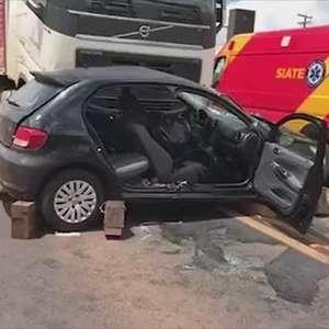 Homem morre após acidente com carreta na BR-277 em Cascavel