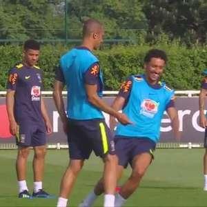 Seleção Brasileira faz primeiro treino em Londres