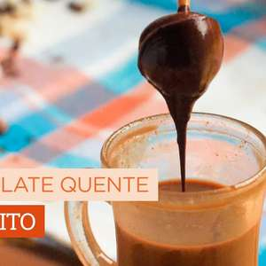 Chocolate quente no palito