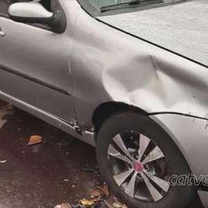Jovem sofre exposição óssea após acidente na Rua Paraná