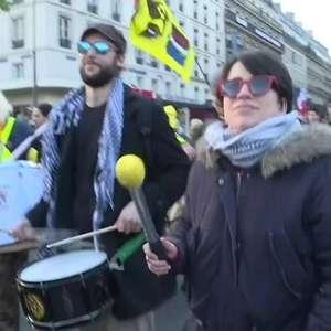 Prisões em manifestações na França