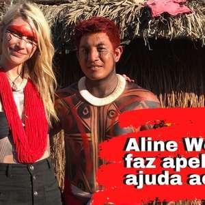 Aline Weber e noivo indígena pedem ajuda ao Xingu