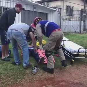 Motociclista fica ferido no Bairro São Cristóvão