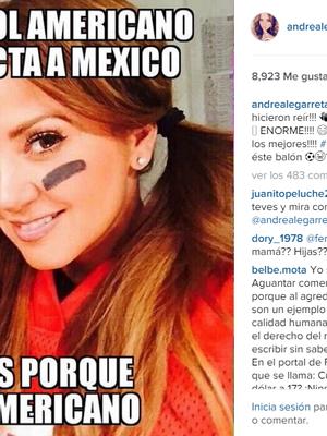 Legarreta se burla de sí misma con meme del Super Bowl