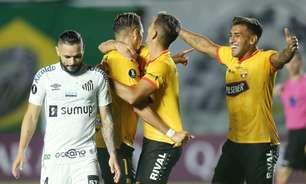 Santos joga mal e tropeça no Barcelona-EQU na Libertadores