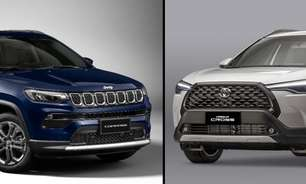 Comparativo SUV: Jeep Compass vs. Toyota Corolla Cross