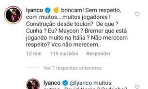 Fora da Seleção Olímpica, Lyanco desabafa: 'CBF não merece respeito'