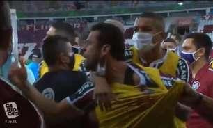 Dirigente do Flamengo provoca Fred após confusão: 'O rapaz está acostumado a tomar de 7 a 1'