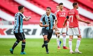 Pelo alto, Grêmio busca a virada contra o Internacional e sai na frente pela final do Gauchão