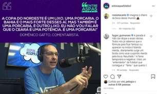 Jornalista chama times do Nordeste de 'lixo' e 'porcaria' e recebe fúria de jogador do Bahia: 'Imundo'