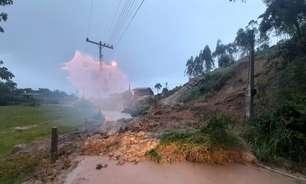 Risco de deslizamento é alto na faixa leste de Santa Catarina