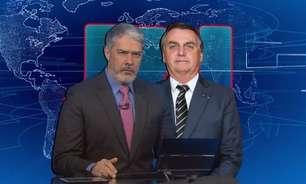 E agora, Bonner? 'JN' cai no Ibope e Bolsonaro não tem culpa