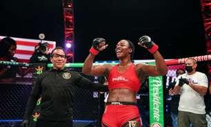 Bicampeã olímpica no Boxe, Claressa Shields estreia no MMA com vitória por nocaute; veja como foi