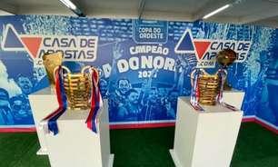 Em parceria com patrocinadora, Bahia promove exposição de troféus da Copa do Nordeste na Fonte Nova